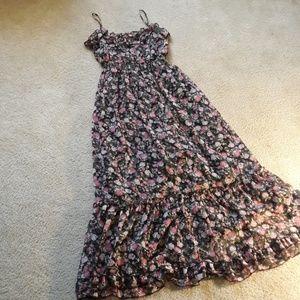 Candie's Flowers/Ruffles Maxi Dress